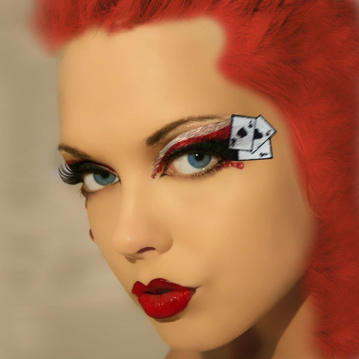 10 Trendy Queen Of Hearts Makeup Ideas queen of hearts xotic eyes make up las vegas showgirl dancer 2020