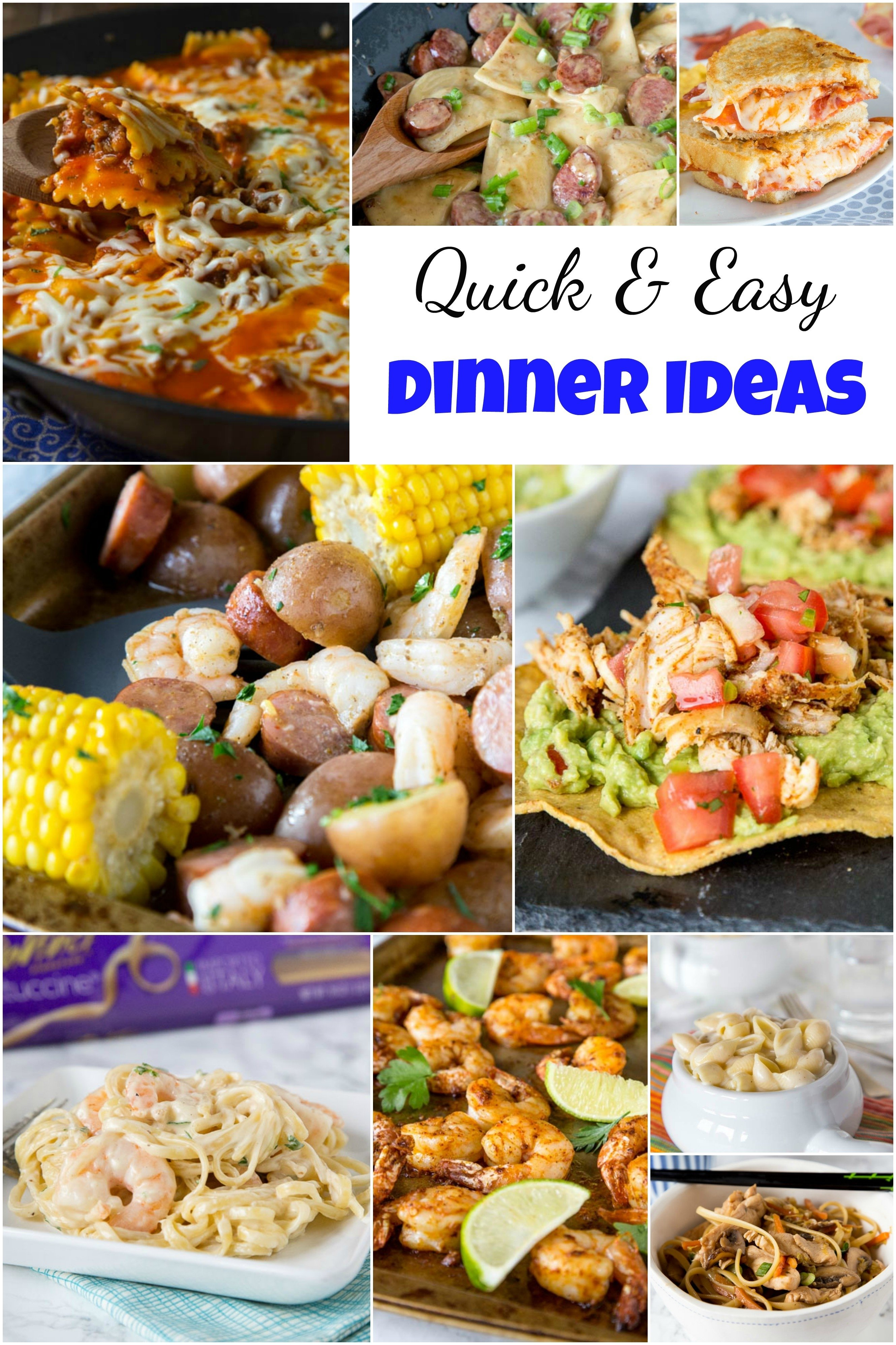 10 Unique Dinner Ideas Quick And Easy quick and easy dinner ideas dinners dishes and desserts 1
