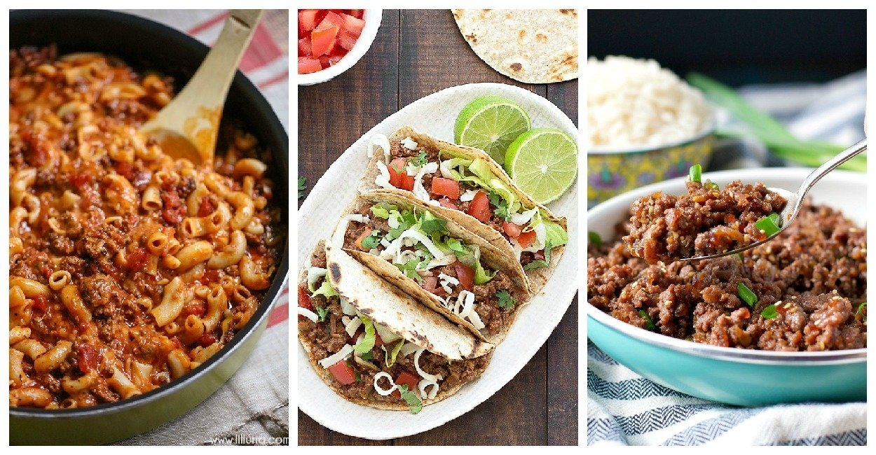 10 Stylish Quick Dinner Ideas With Ground Beef quick and easy ground beef recipes family fresh meals 2020
