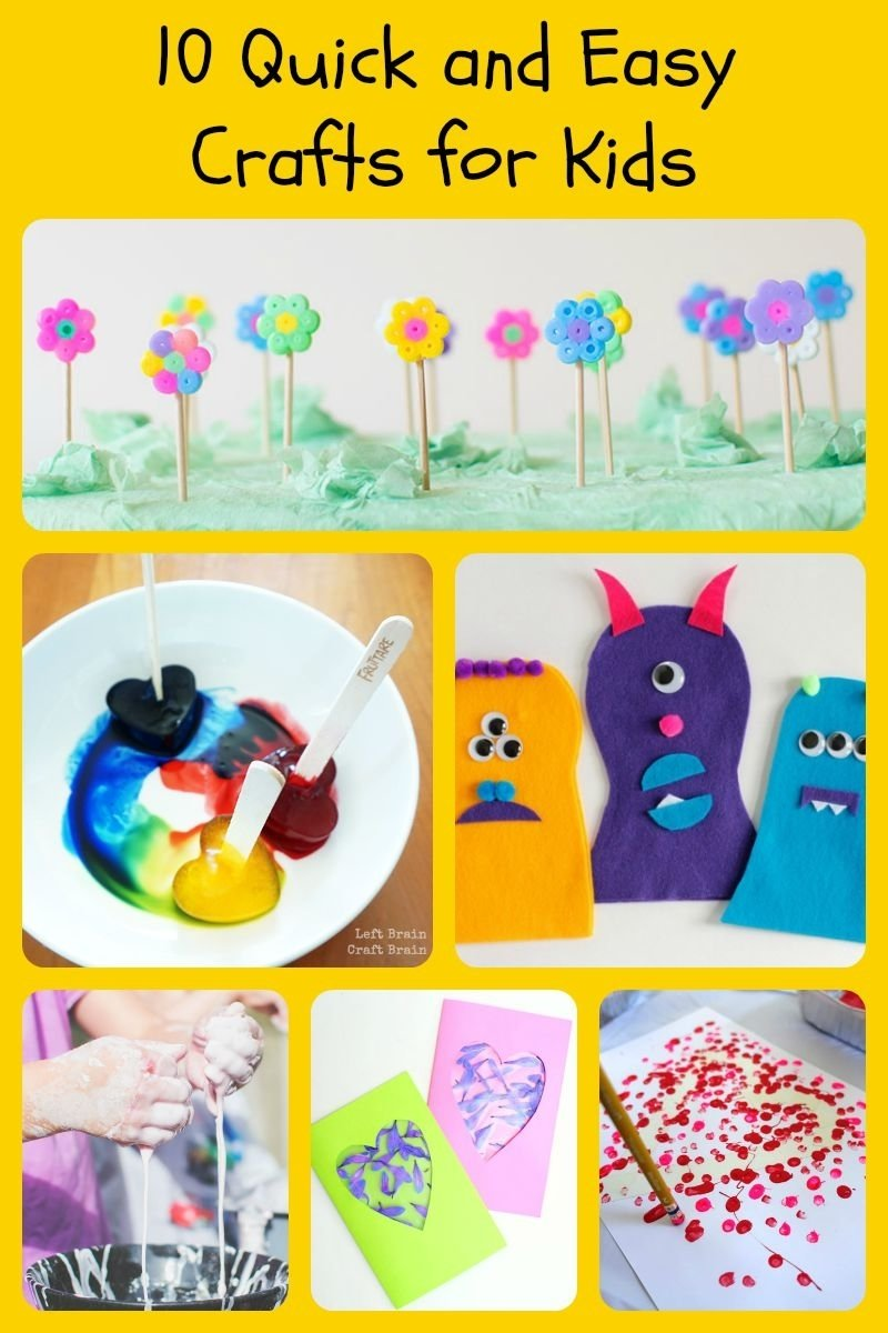quick and easy kids crafts | ye craft ideas