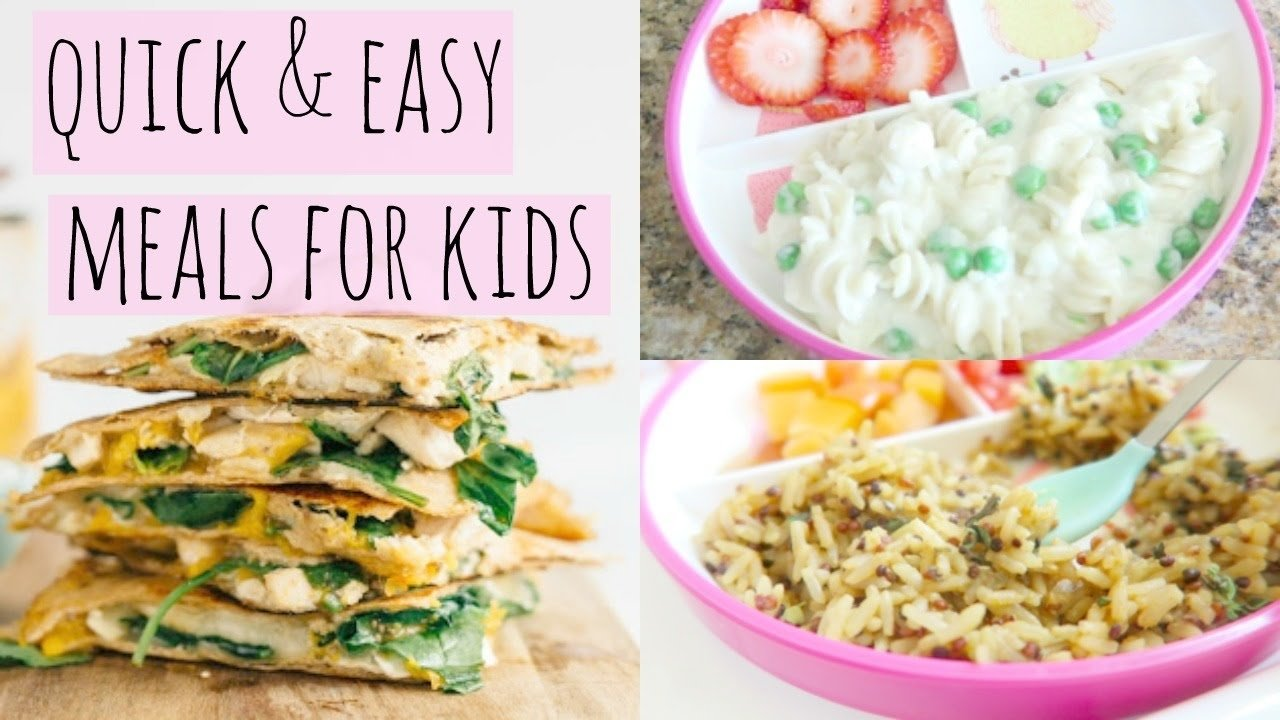 10 Beautiful Quick And Easy Meal Ideas quick and easy lunch ideas for kids youtube 3 2020