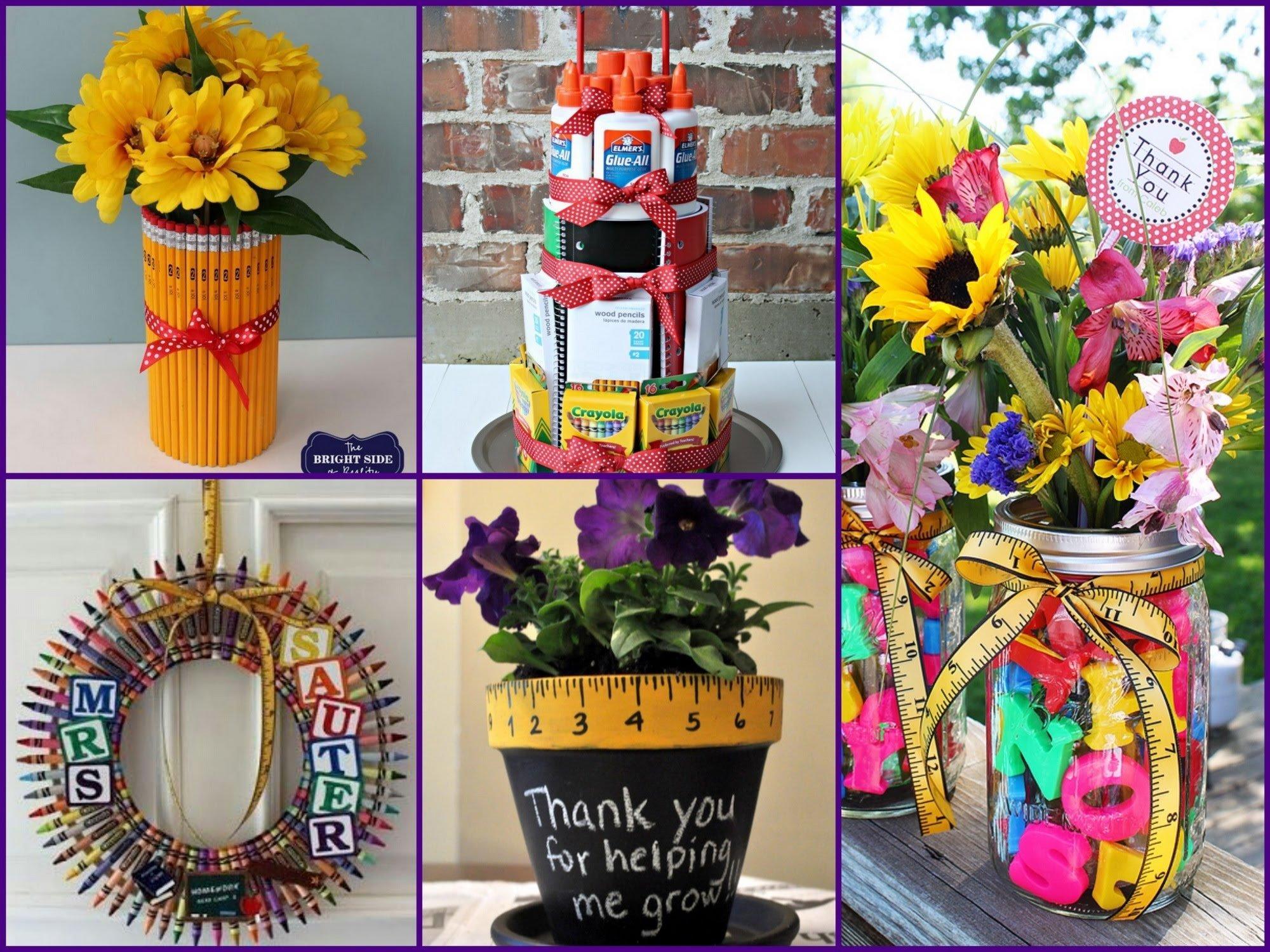 10 Best Teacher Appreciation Homemade Gift Ideas quick and easy teacher appreciation gift ideas youtube 3 2020