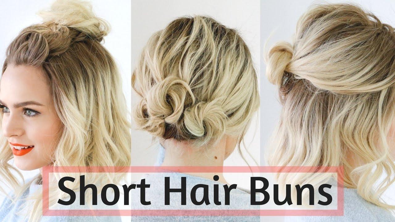 10 Fantastic Cute Hair Ideas For Medium Hair quick bun hairstyles for short medium hair hair tutorial youtube 1 2020