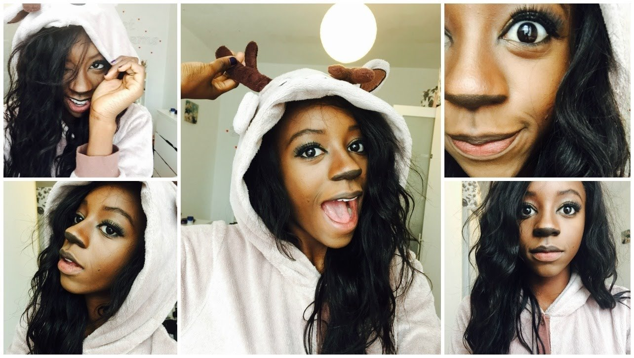 10 Most Recommended Black Girl Halloween Costume Ideas quick easy halloween costume bambi inspired part 2 youtube 2020