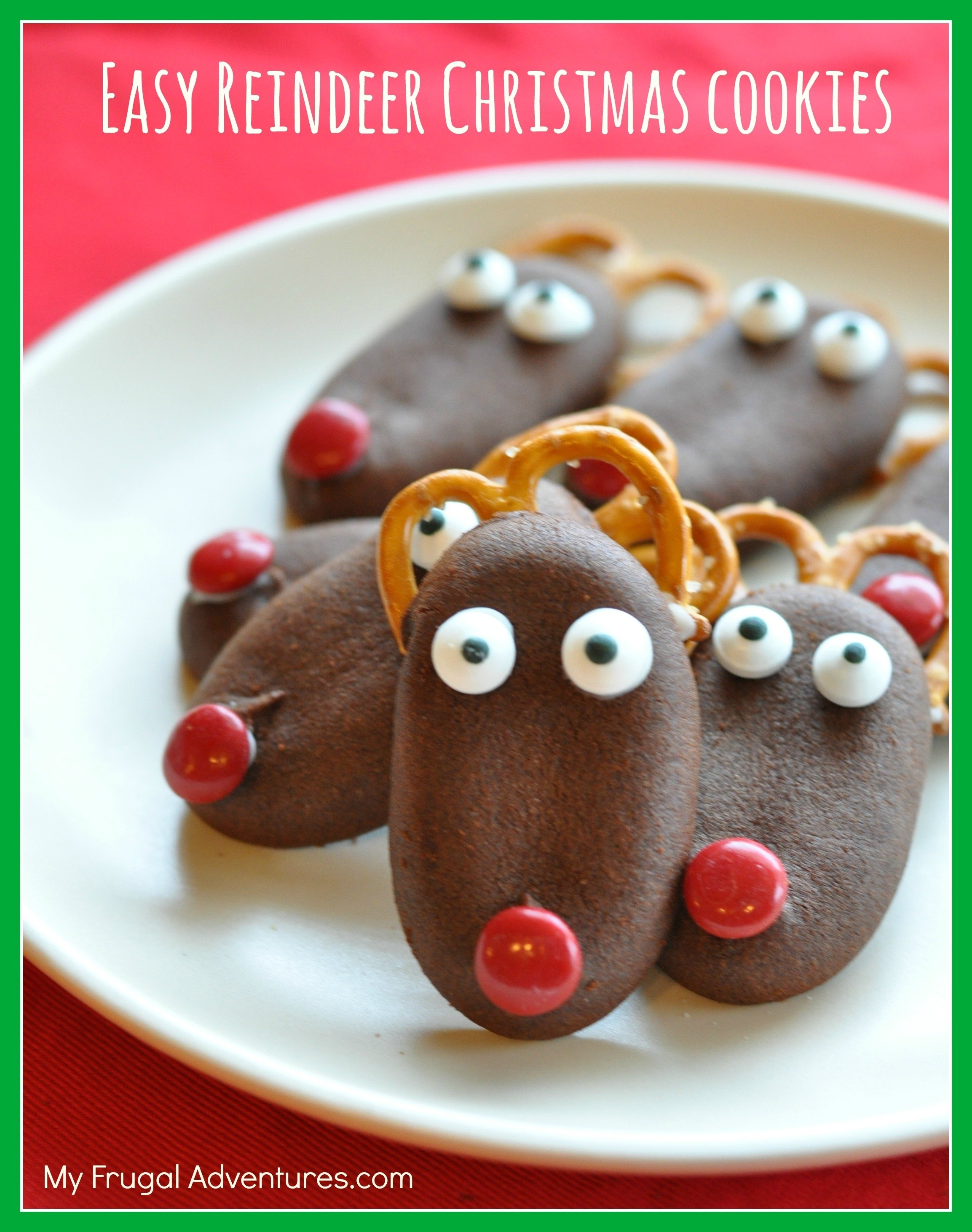 10 Perfect Christmas Cookie Ideas For Kids quick easy reindeer christmas cookies my frugal adventures 2021