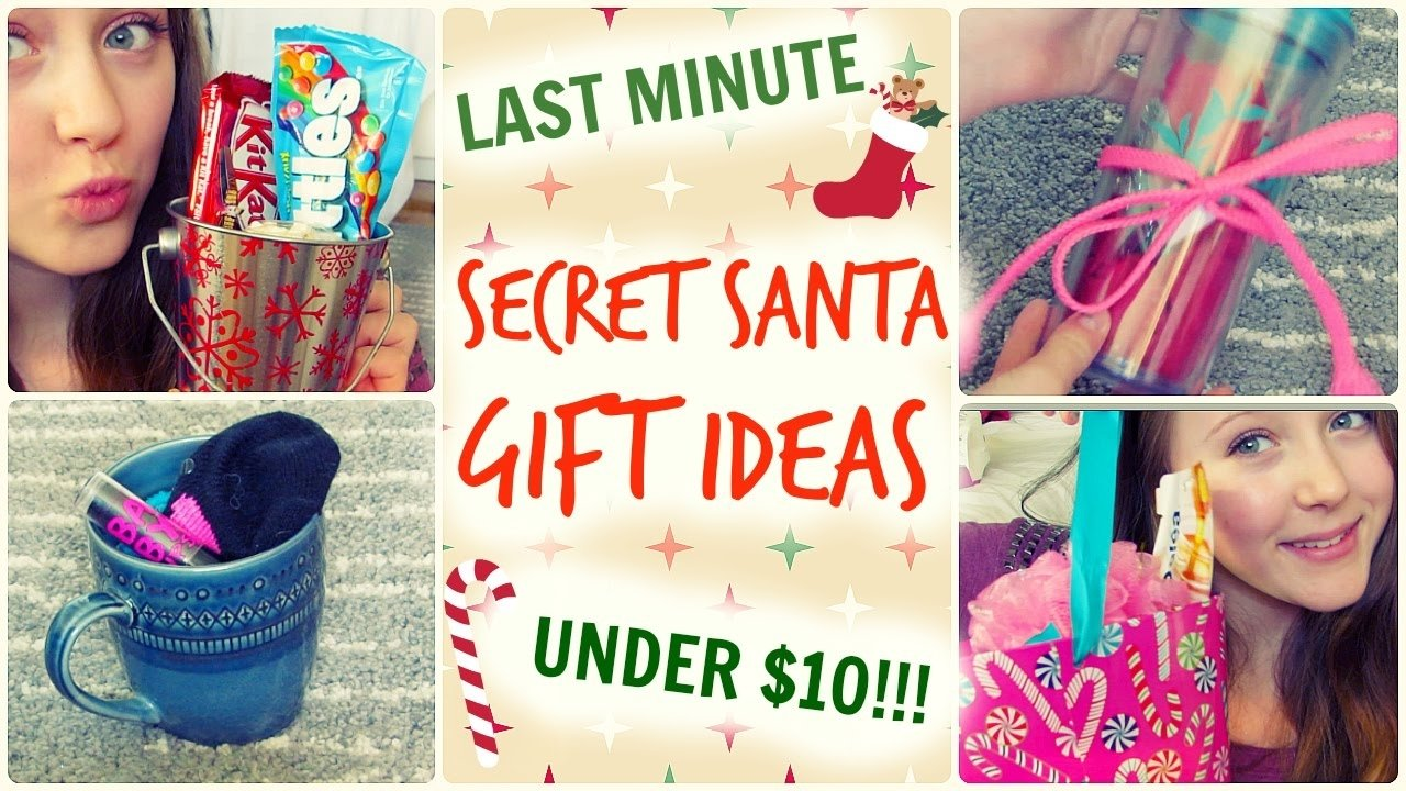 quick & easy secret santa gift ideas | under $10! - youtube