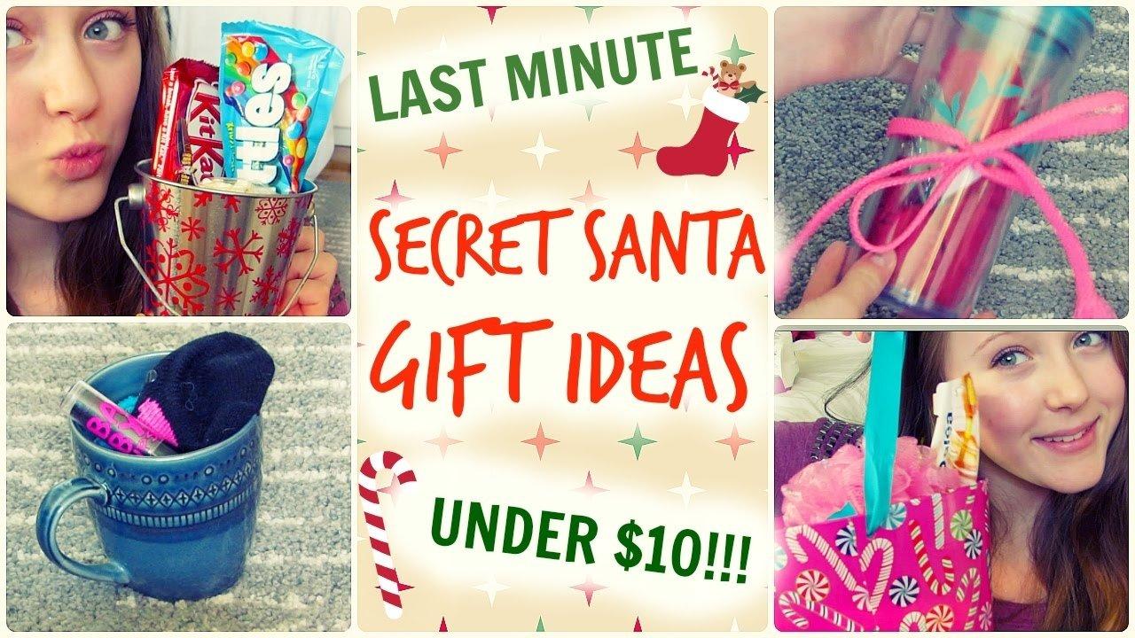 10 Fantastic Secret Santa Ideas For School quick easy secret santa gift ideas under 10 youtube 2020