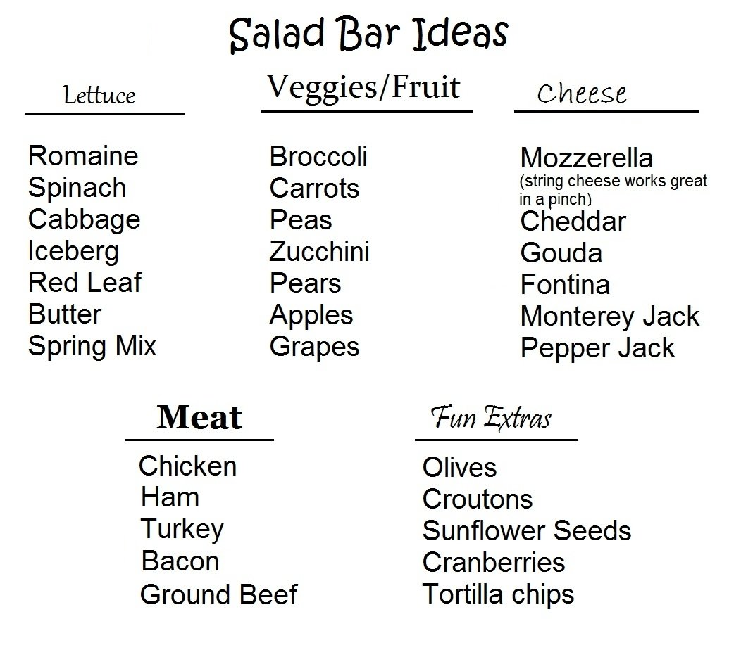 10 Trendy List Of Easy Dinner Ideas quick toddler lunches 5 easy solutions salad bar blue cheese and 2020