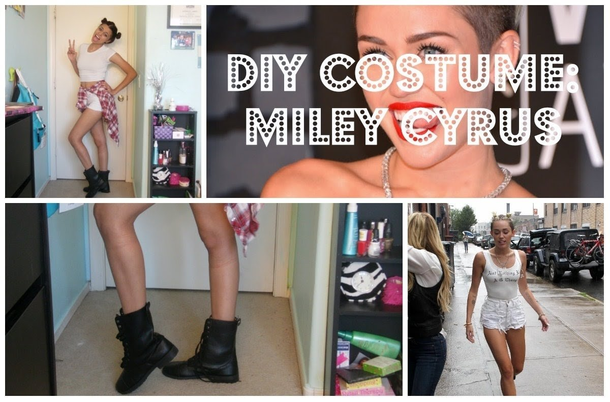 quick&easy diy miley cyrus costume! - youtube