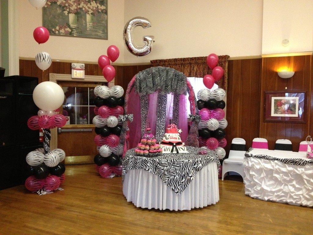 10 Spectacular Zebra Print Party Decoration Ideas quinceanera zebra hot pink decoration ideas seshalyns party 2021