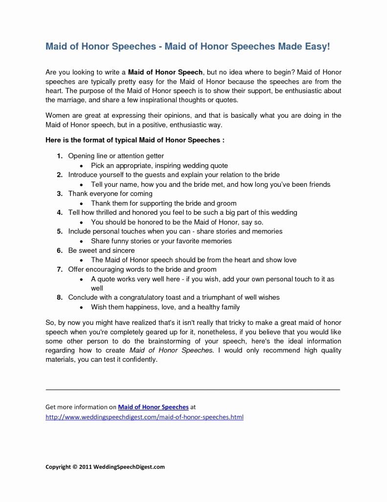10 Beautiful Maid Of Honor Speech Ideas %name