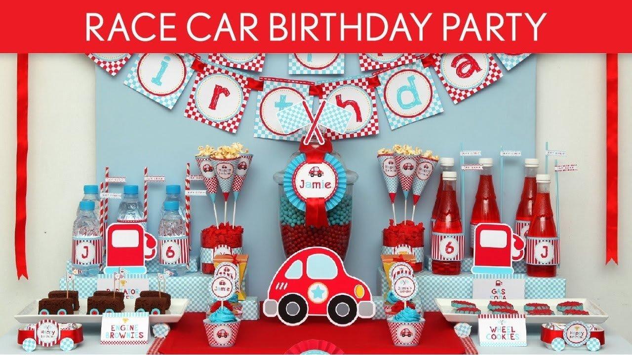 race car birthday party ideas // cute race car - b36 - youtube