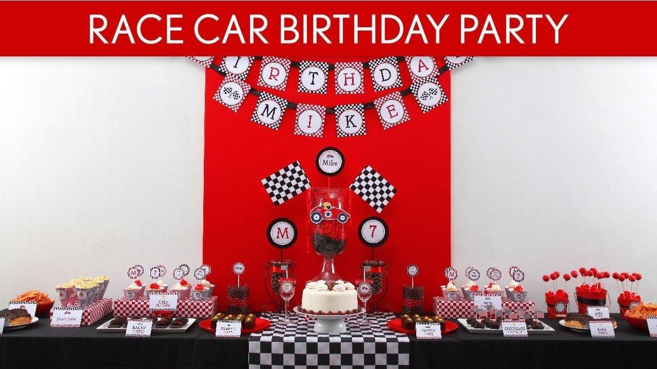 10 Stunning Race Car Birthday Party Ideas race car birthday party ideas vintage race car b1 youtube 2020