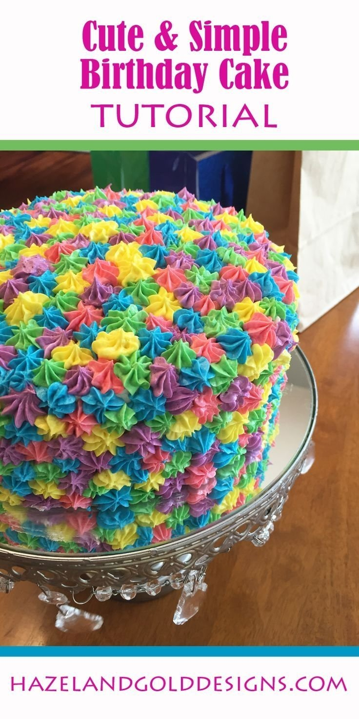 10 Most Recommended Easy Cake Decorating Ideas For Kids rainbow birthday cake colourful cake birthday fun and rainbow 2021