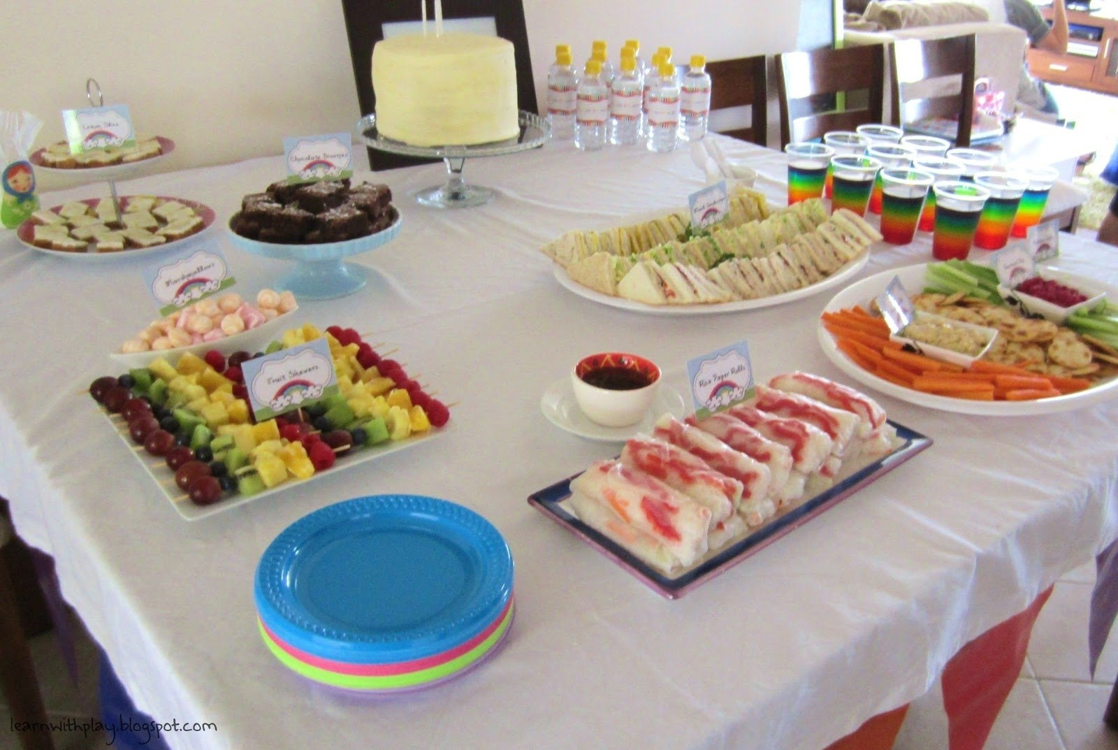 10 Lovely Food Ideas For A Birthday Party rainbow birthday party ideas rainbow food adult birthday party 6 2021