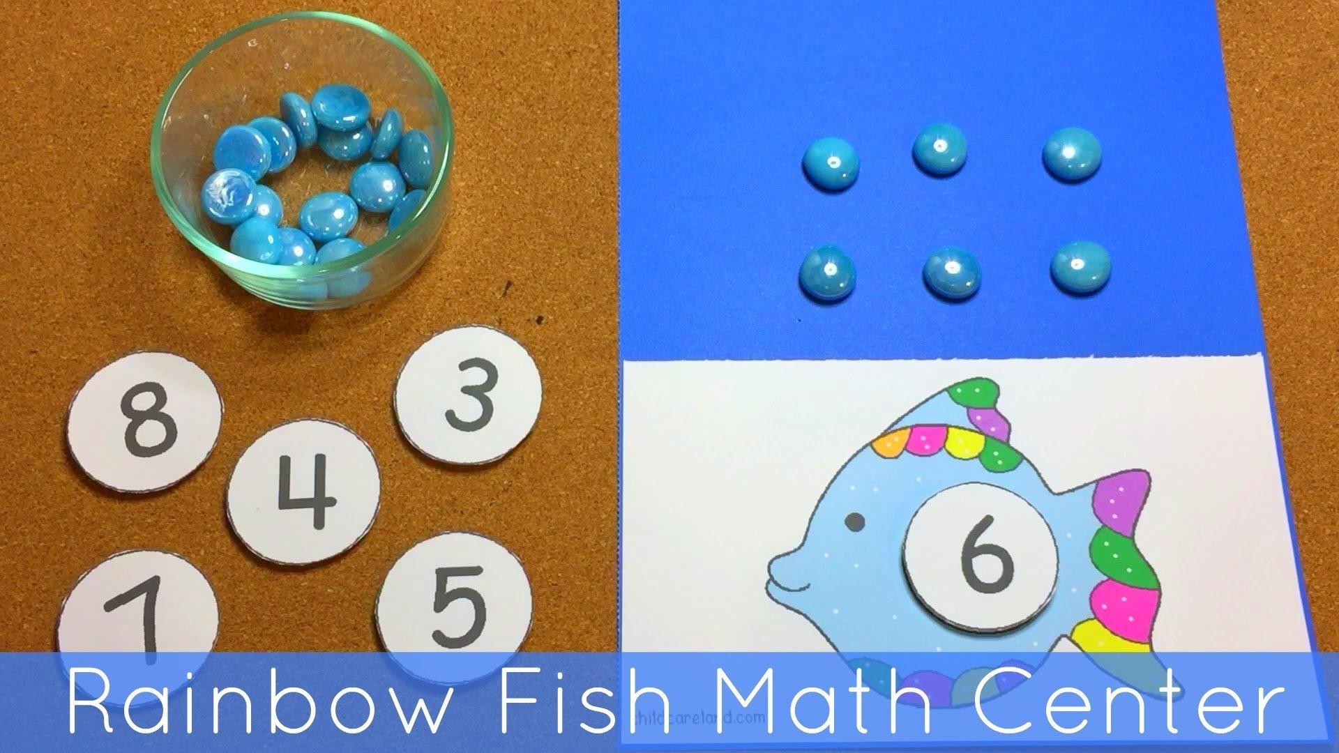 10 Attractive Math Center Ideas For Kindergarten rainbow fish math center for preschool and kindergarten youtube 2021