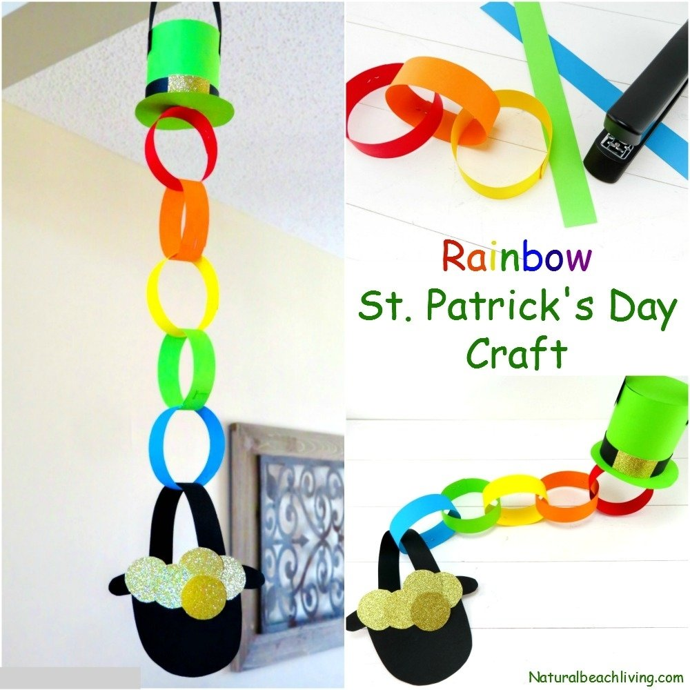 10 Cute St Patrick Day Craft Ideas rainbow pot of gold craft idea for st patricks day natural beach 2021