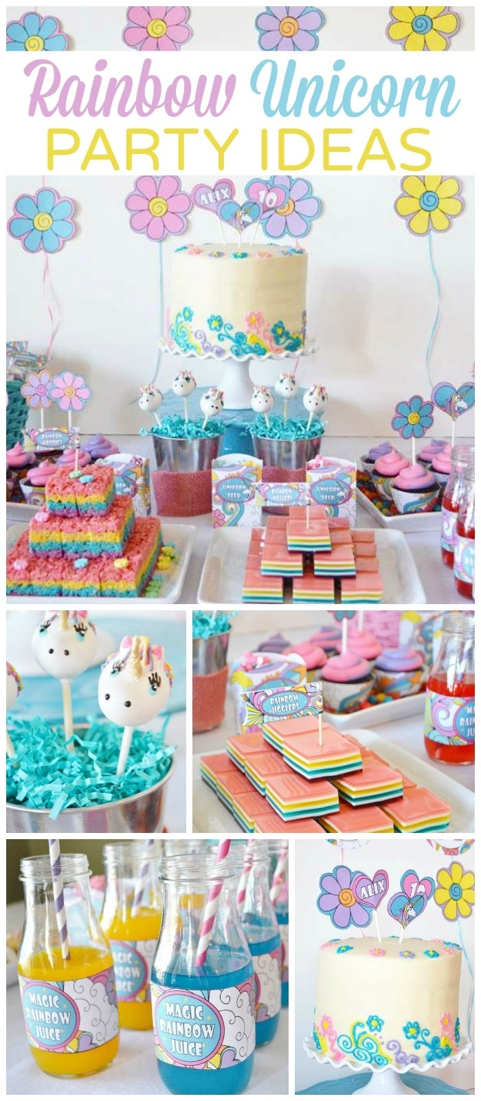 10 Fashionable 5Th Birthday Party Ideas For Girls rainbow unicorn birthday rainbow unicorn birthday party 2020