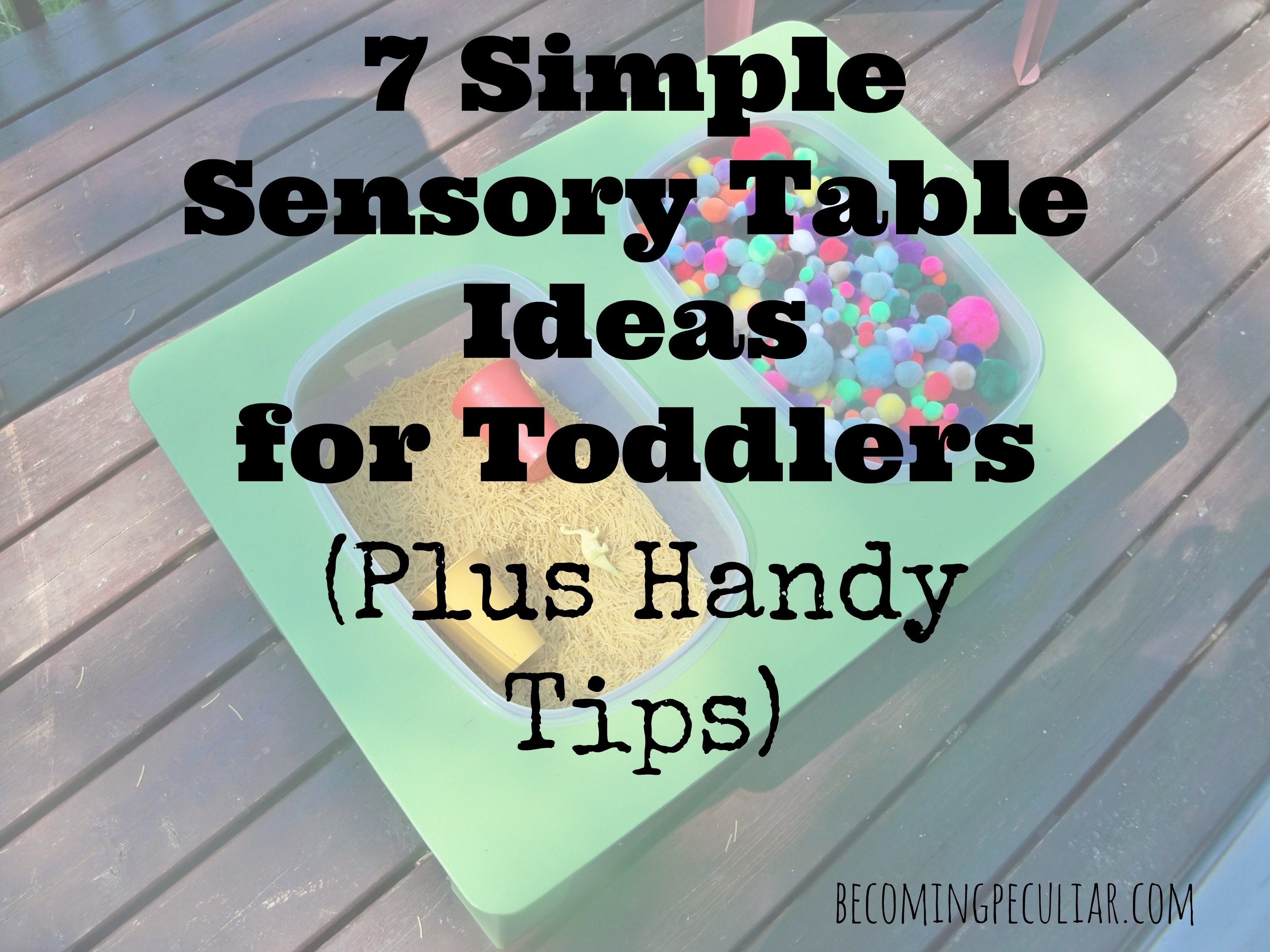 10 Nice Sensory Table Ideas For Toddlers