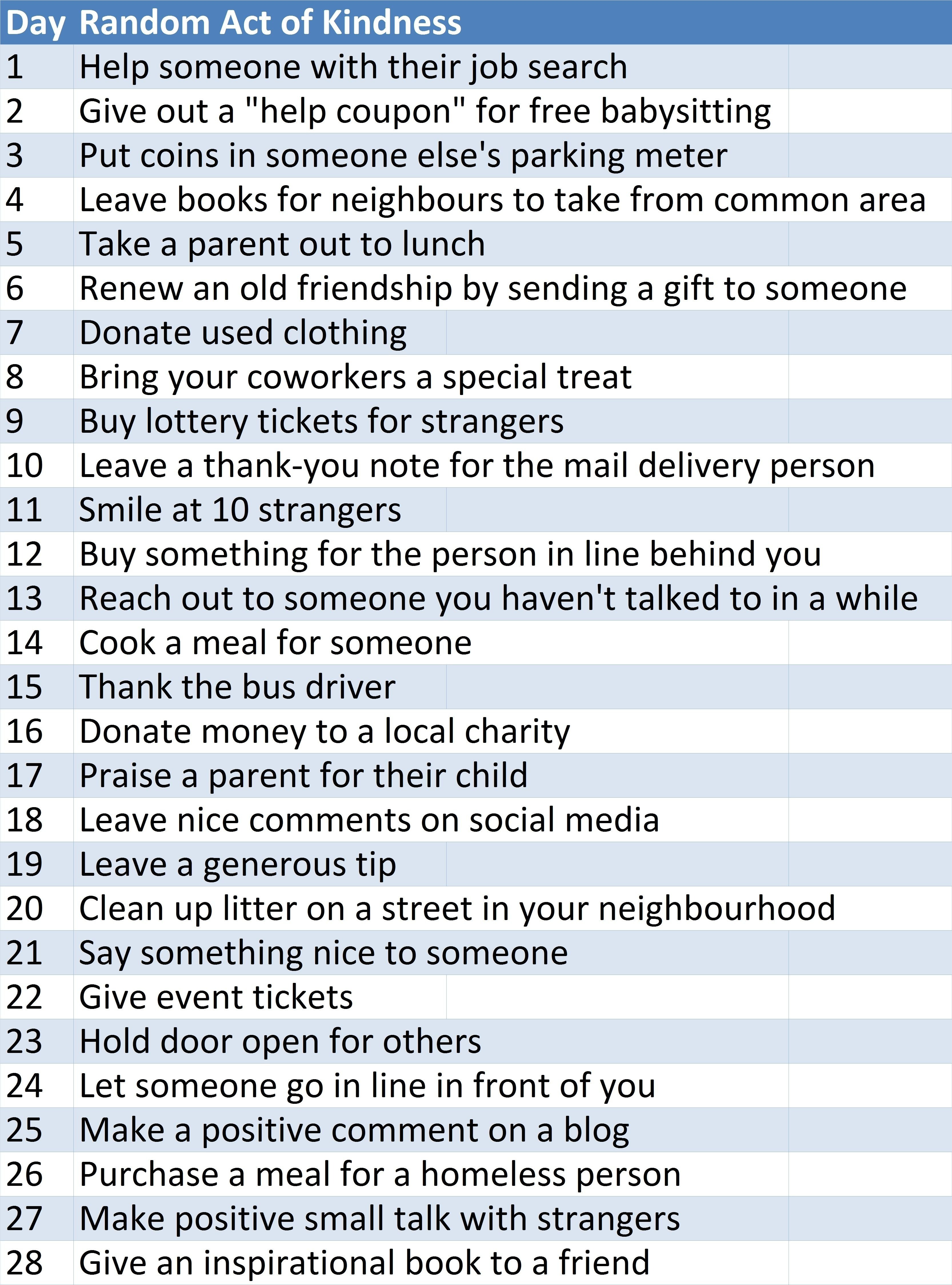 10 Best Ideas For Random Acts Of Kindness random act of kindness ideas my church is focusing on kindness to