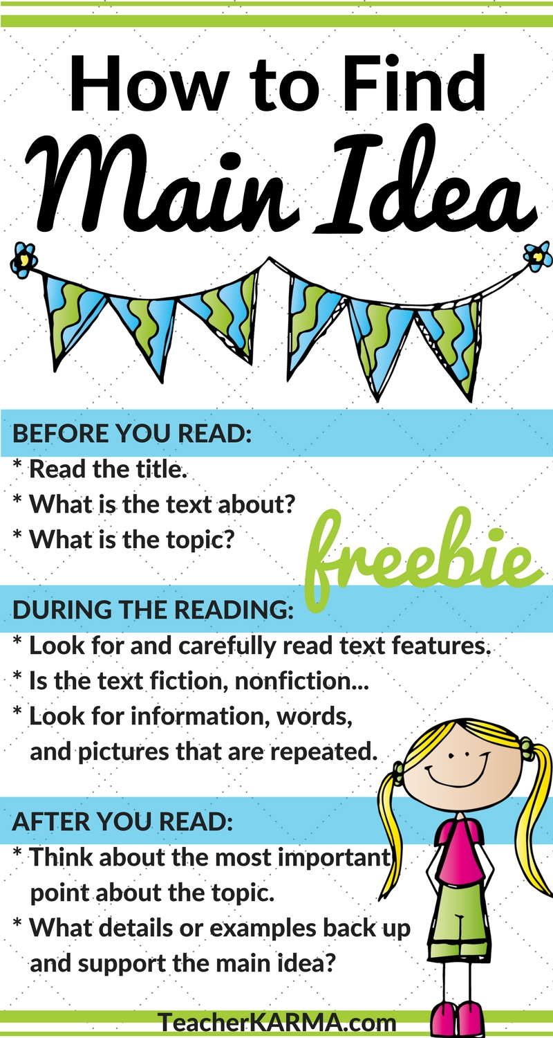 10 Fashionable How To Find Main Idea reading activities free how to find the main idea simple