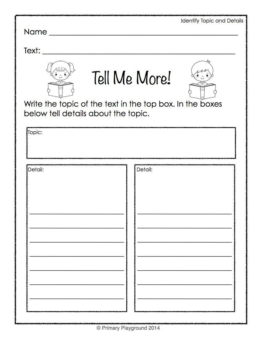 10 Spectacular Main Idea Detail Graphic Organizer reading graphic organizers for non fiction topic details main