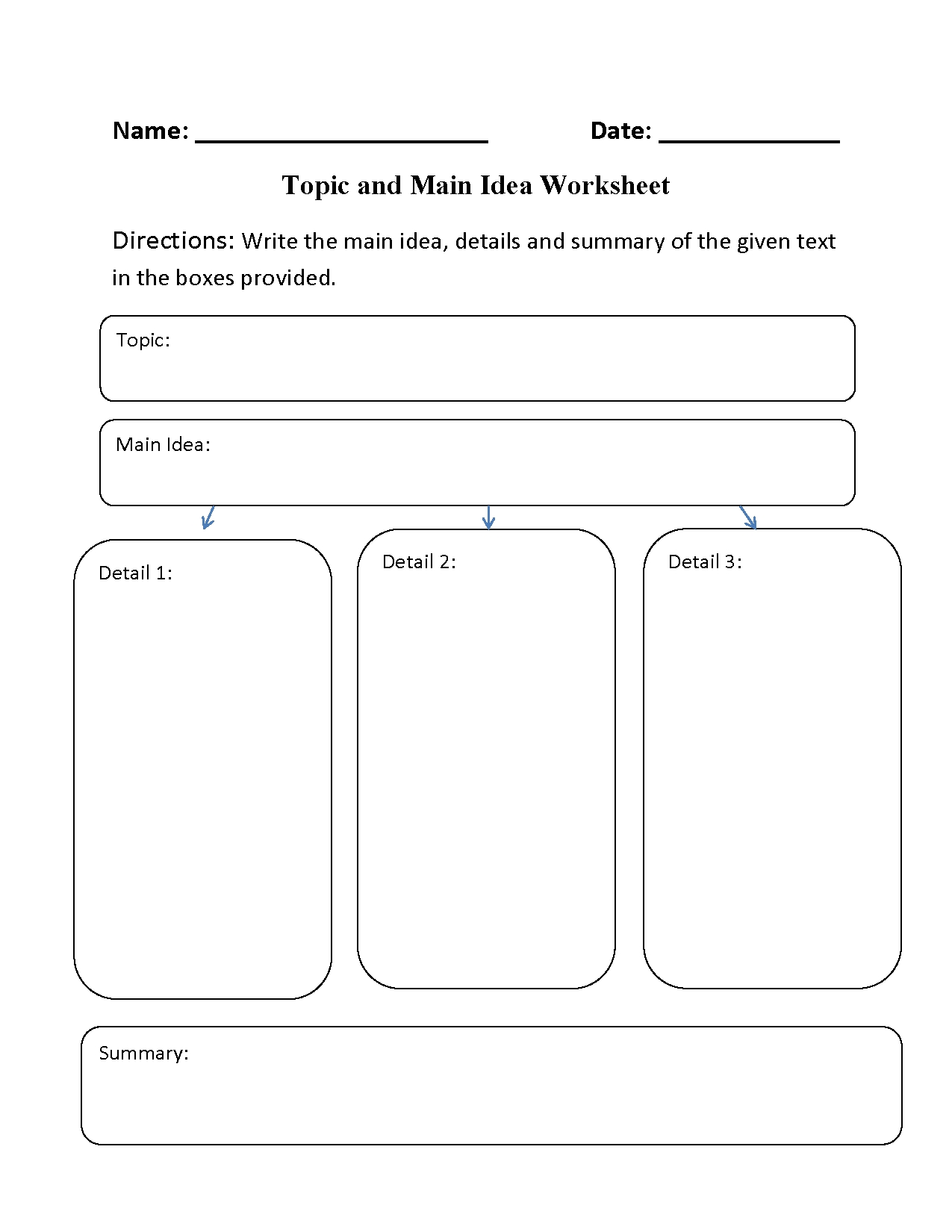 10 Stylish Main Idea Worksheets For 2Nd Grade reading worksheets main idea worksheets 13 2021