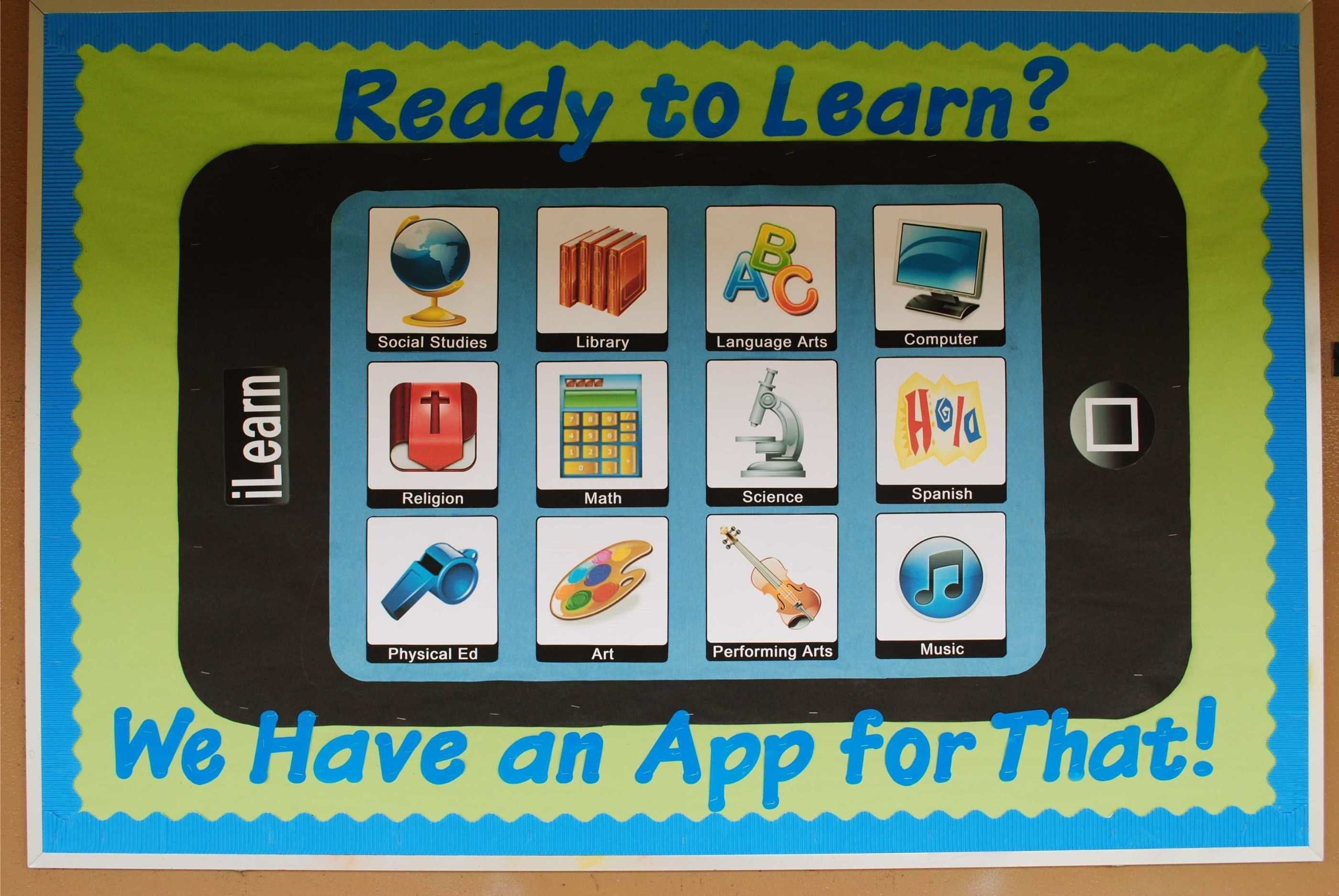10 Stylish Technology In The Classroom Ideas ready to learn we have an app for that technology themed back to 2020
