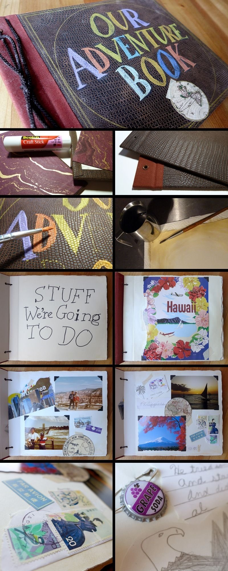 10 Cute Cute Anniversary Ideas For Boyfriend real life adventure book from up this is just to adorable this 2020