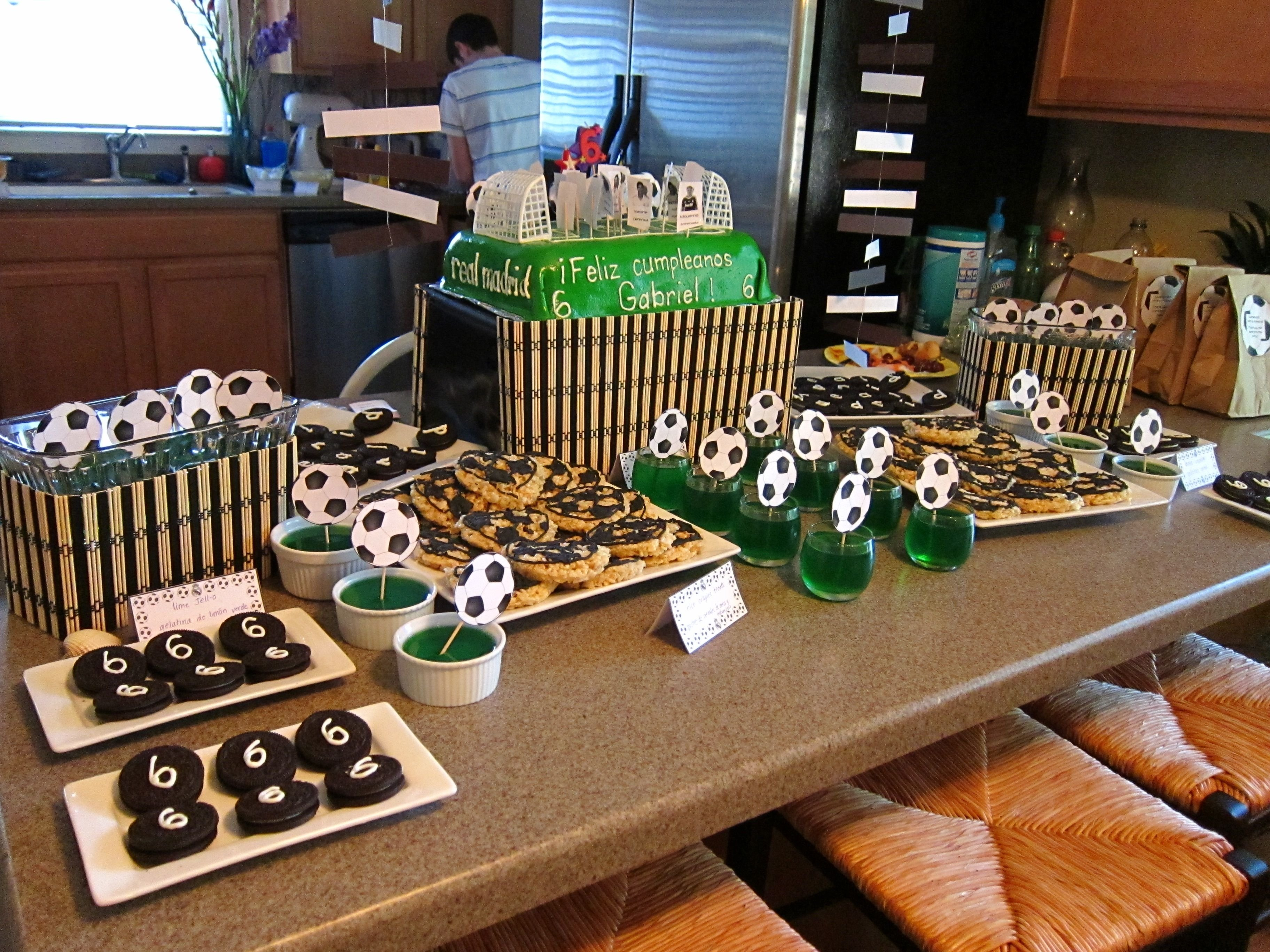 10 Perfect Birthday Party Ideas 10 Year Old Boy real madrid soccer birthday party real madrid soccer soccer 1 2021