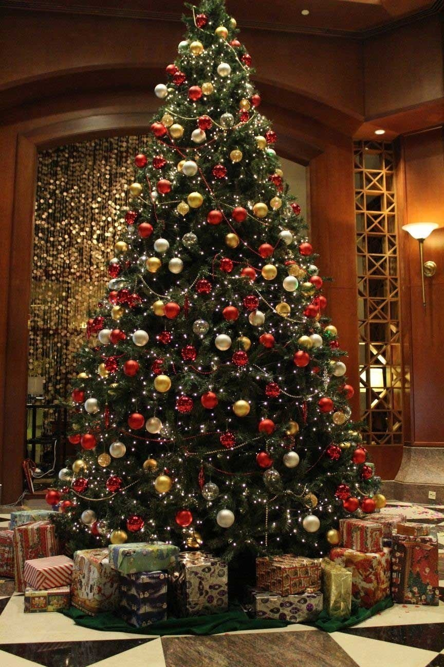 10 Amazing Red And Gold Christmas Tree Decorating Ideas real or fake christmas trees which is the better choice tree 2021