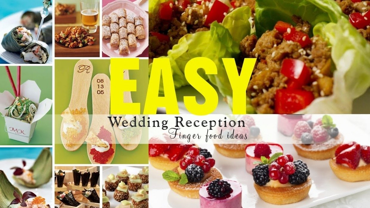 10 attractive cheap wedding reception food ideas