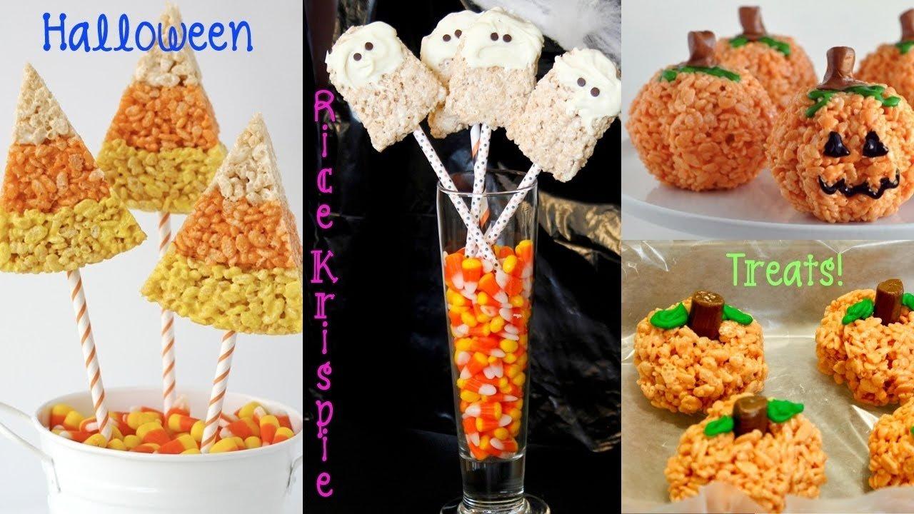 10 Great Halloween Rice Krispie Treat Ideas recipe review halloween rice krispie treats pumpkins ghosts 2020