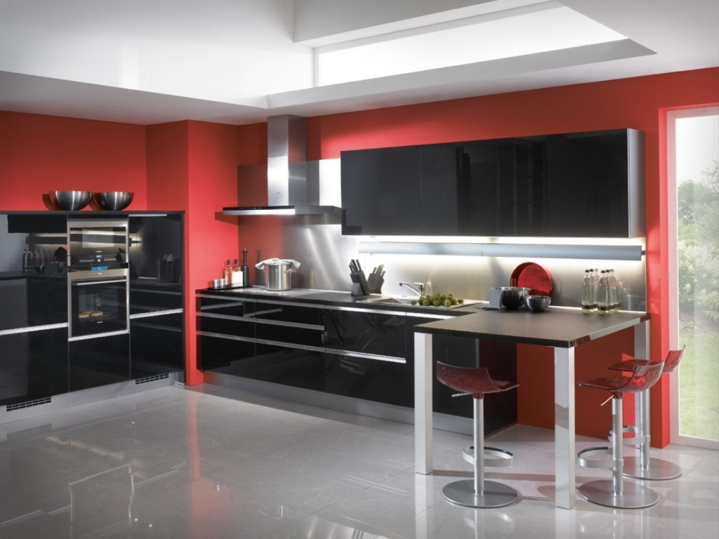 10 Attractive Red And Black Kitchen Ideas %name 2021