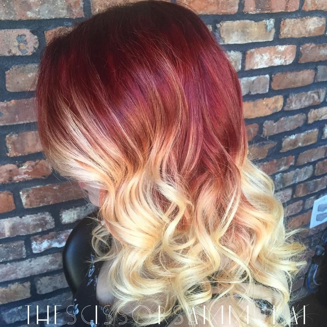 10 Stunning Red With Blonde Hair Color Ideas red and blonde ombre blonde ombre ombre and blondes 2021