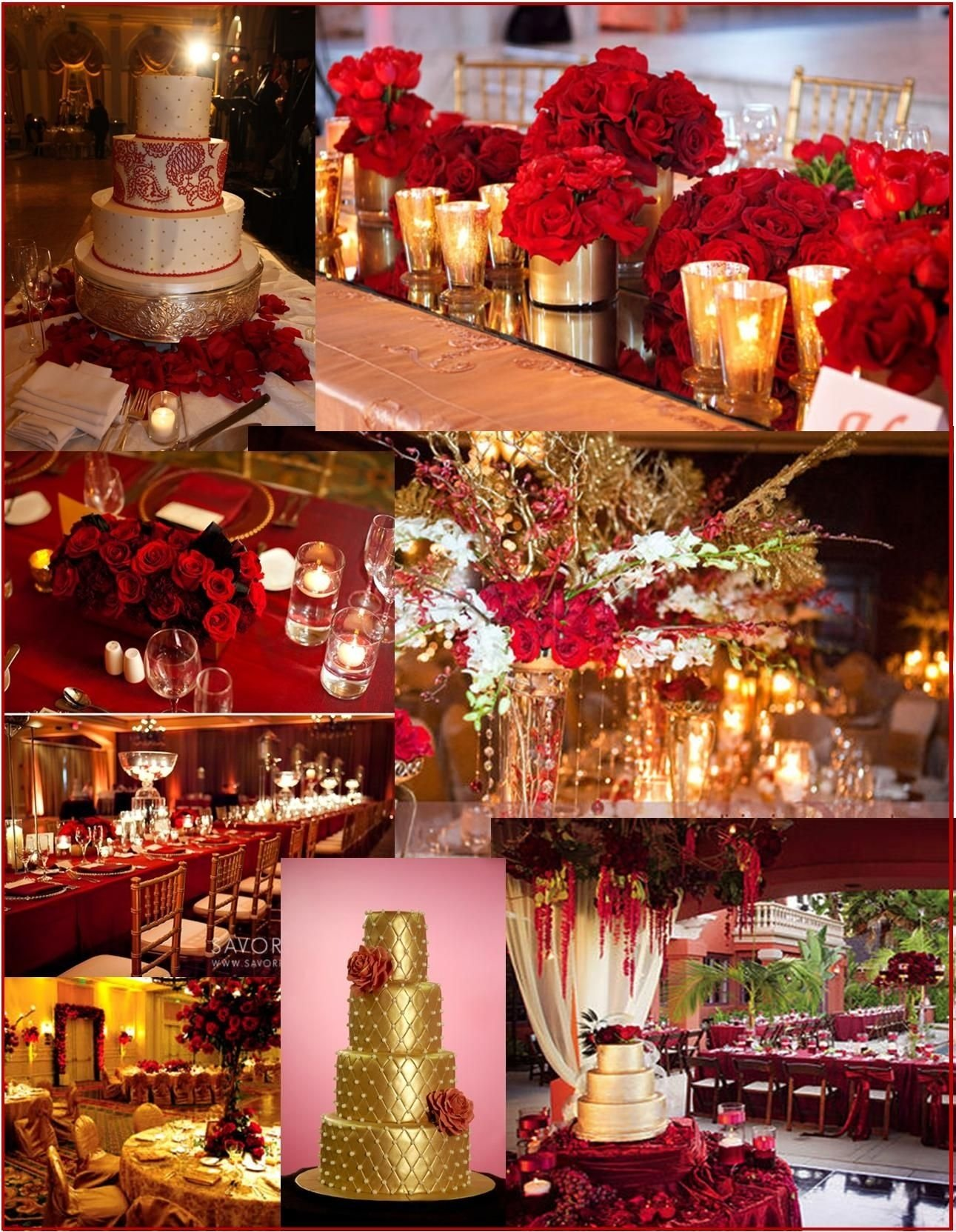 red and gold wedding and event ideas | wedding reception | pinterest