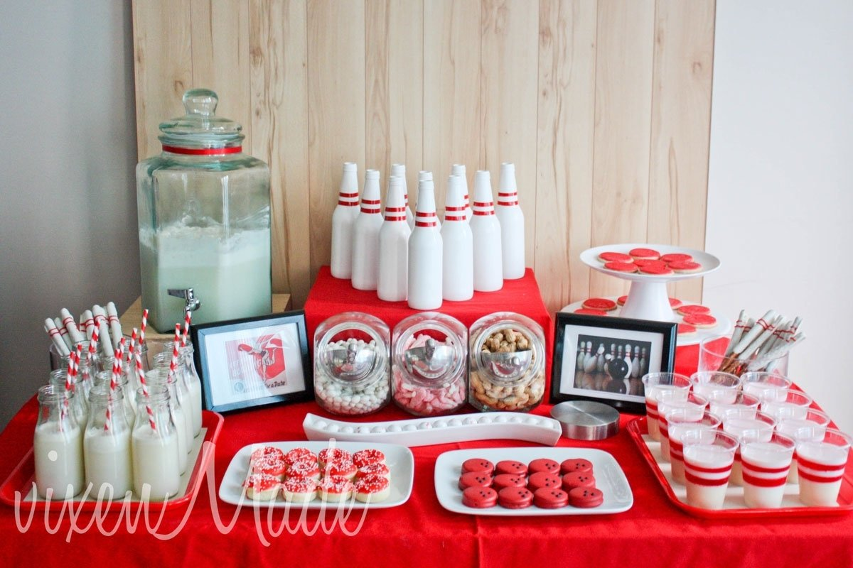 10 Spectacular Red And White Party Ideas red and white bowling party evite 2021