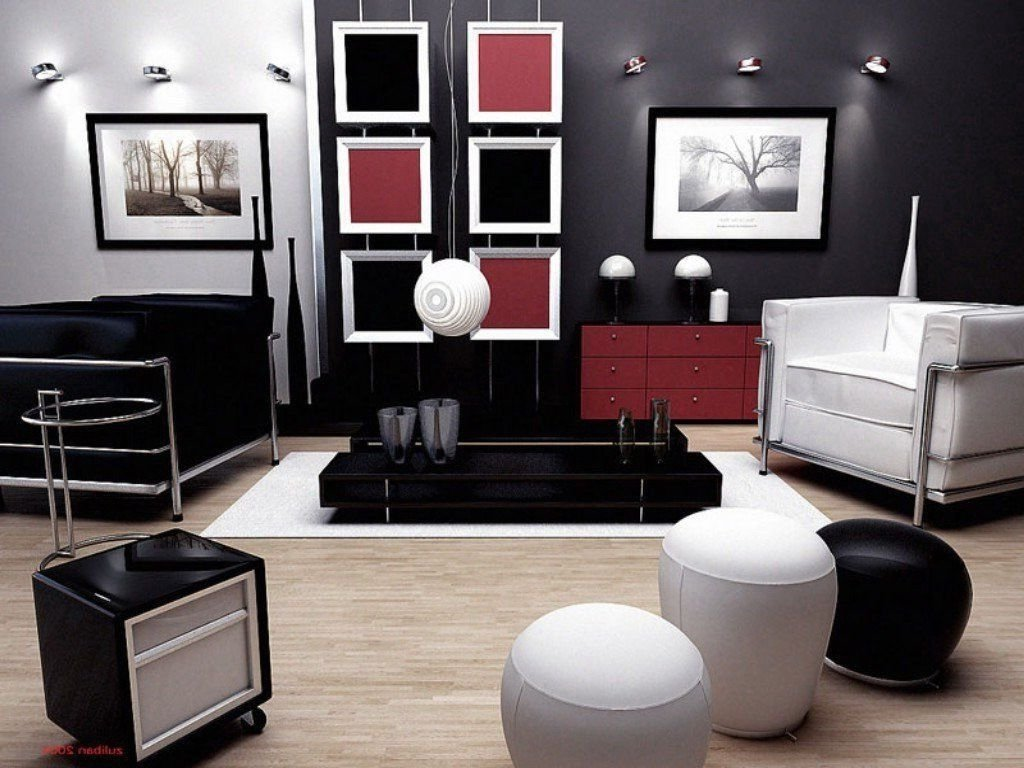 10 Beautiful Red And Black Living Room Ideas red and white living room decorating ideas best decoration ty black 1 2020