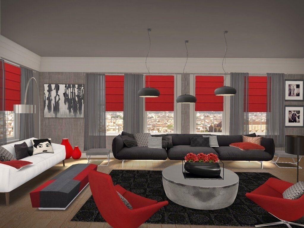 10 Beautiful Red And Black Living Room Ideas red black and grey living room ideas red black and gray living room 2020