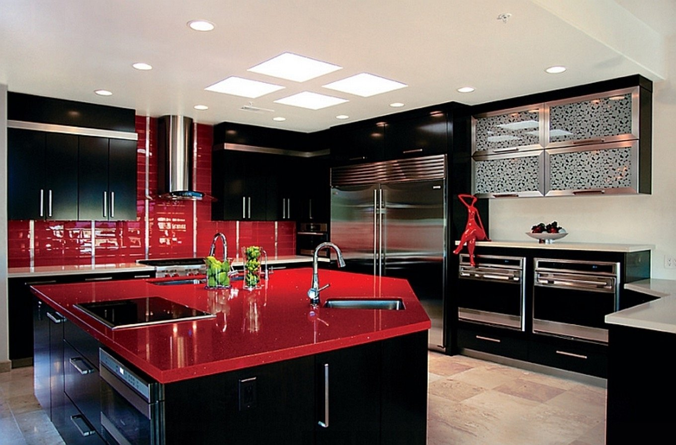 10 Attractive Red And Black Kitchen Ideas