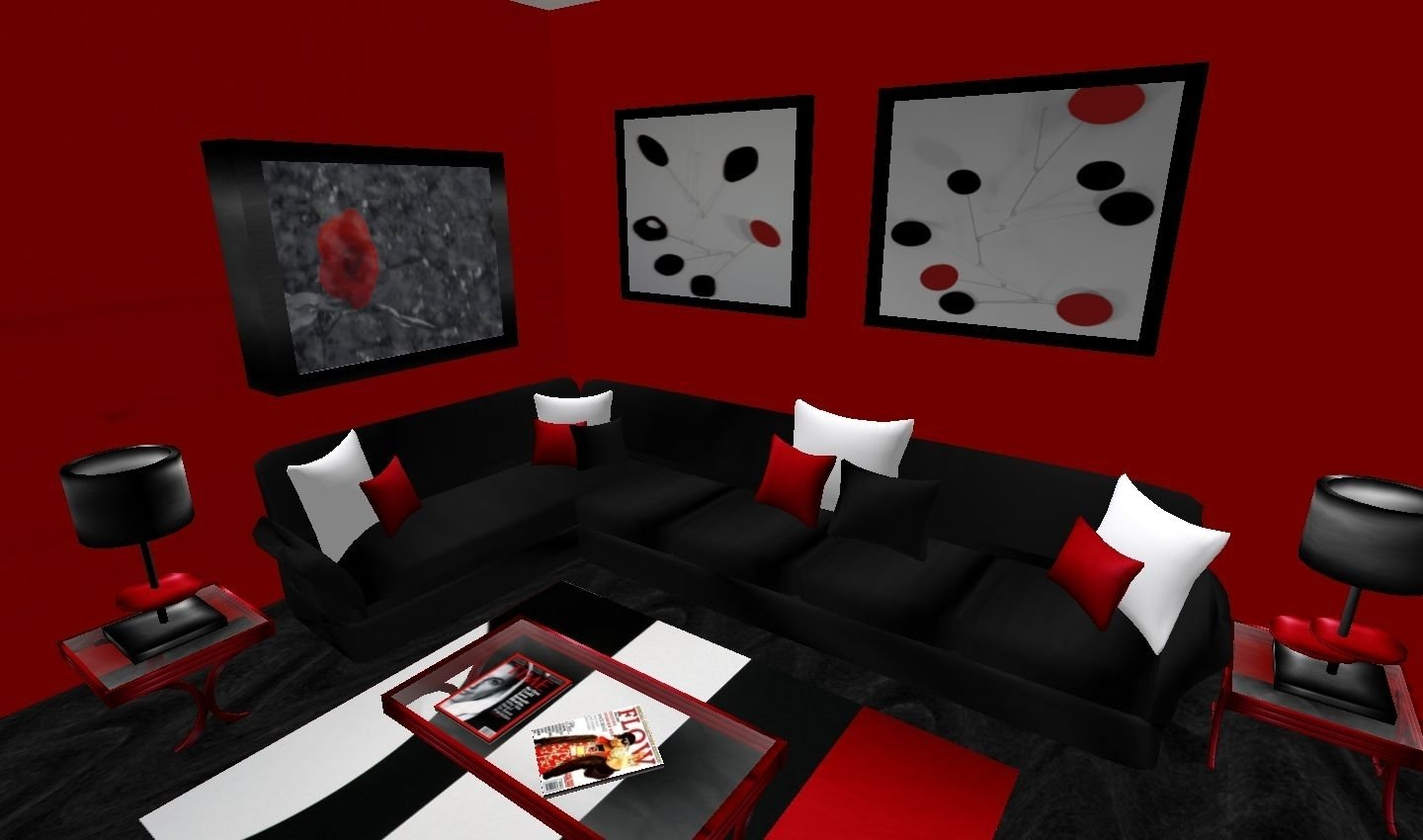 10 Beautiful Red And Black Living Room Ideas red black and white living room decorating ideas fresh with red 2020