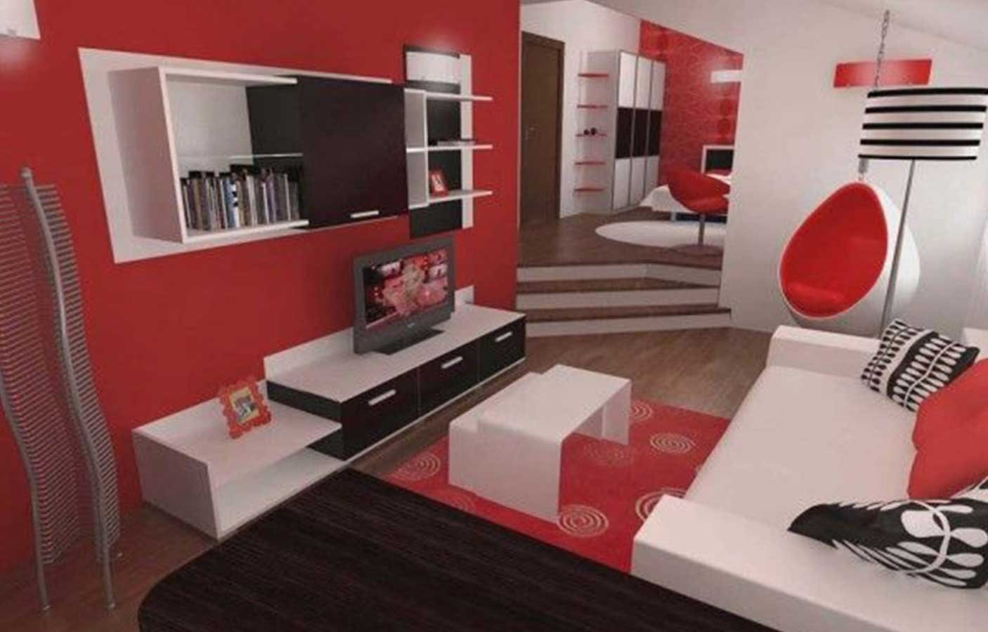 10 Trendy Red And Black Room Ideas red black and white living room decorating ideas home interior 2021