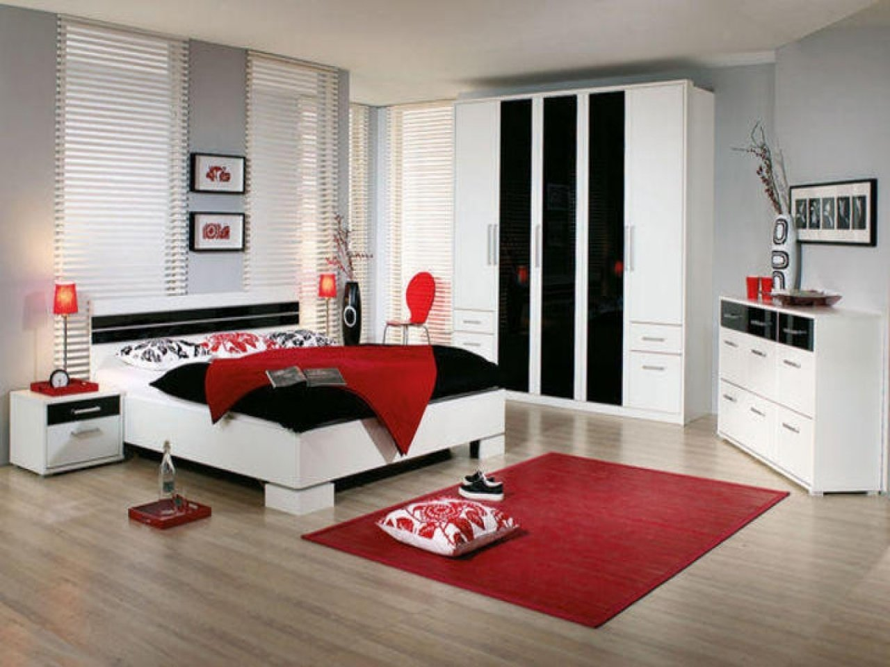 10 Lovely Black White And Red Bedroom Ideas red black bedroom ideas nurani