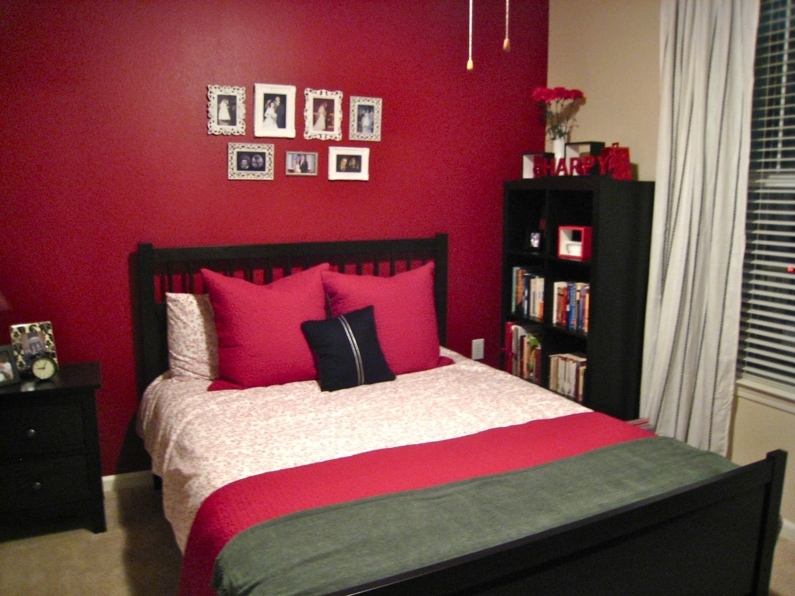 10 trendy red and black room ideas