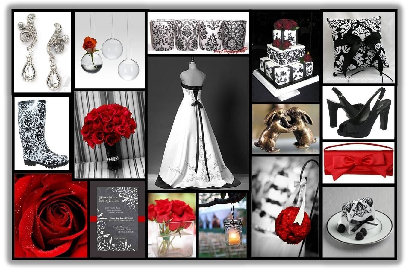 10 Elegant Red Black And White Wedding Reception Ideas red black white wedding ideas and centerpieces party decoration 1 2020