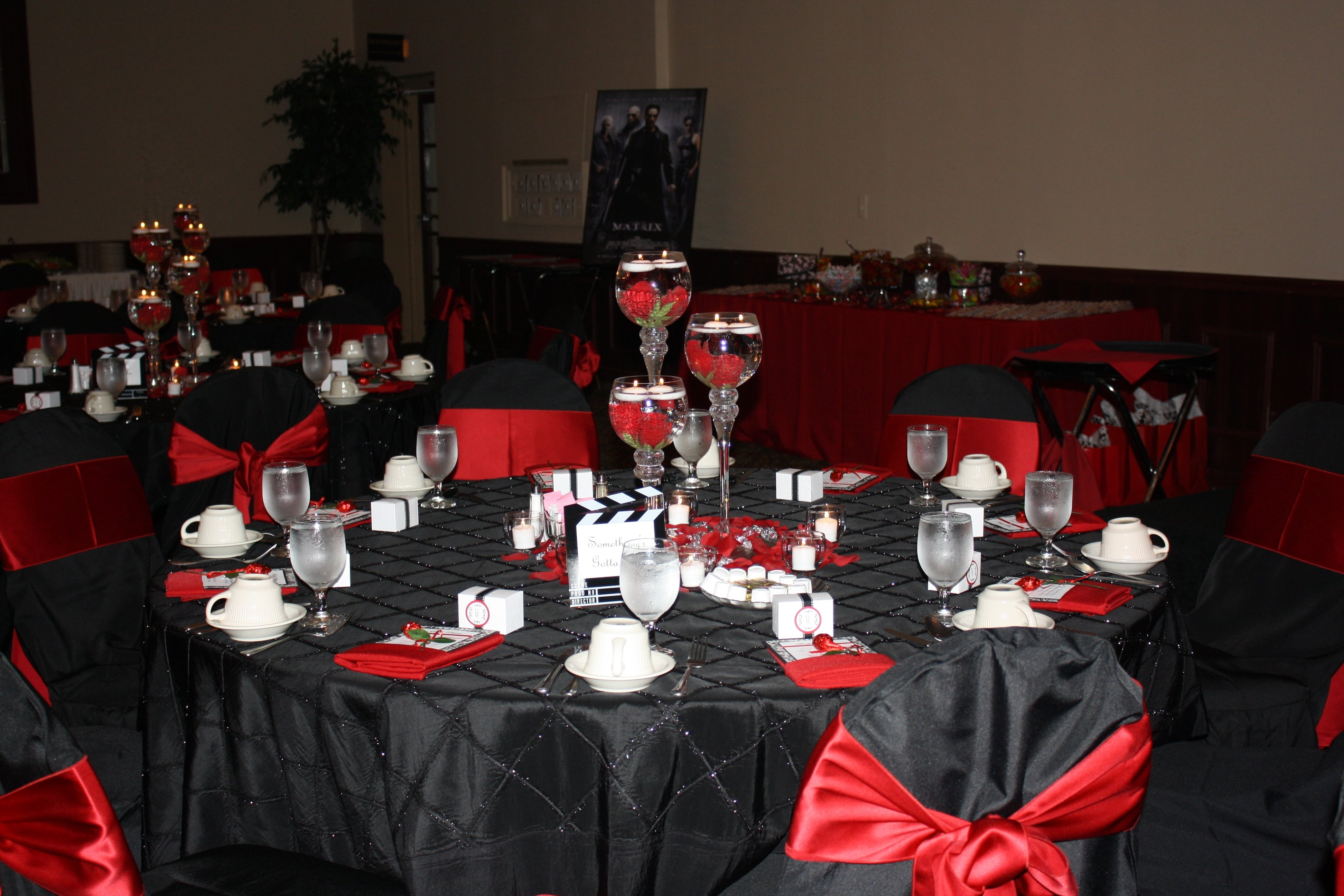 10 Elegant Red Black And White Wedding Reception Ideas red black white wedding movie theme wedding movie theme 2020