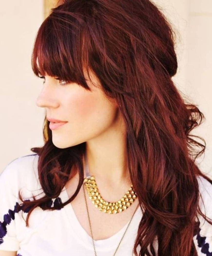 10 Lovable Brown And Red Hair Color Ideas red brown highlights long brown reddish hair color long hair 2020