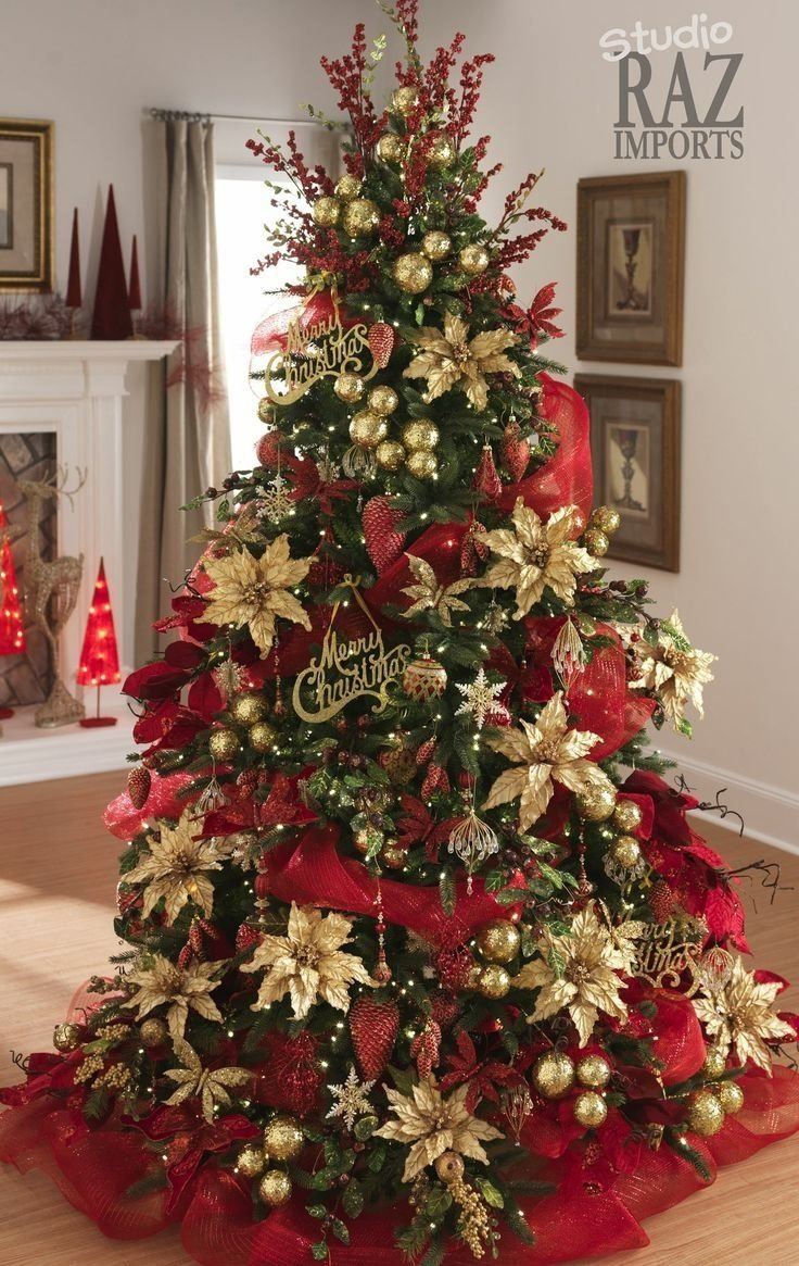 10 Fabulous Cheap Christmas Tree Decorating Ideas red christmas trees traditional christmas tree christmas