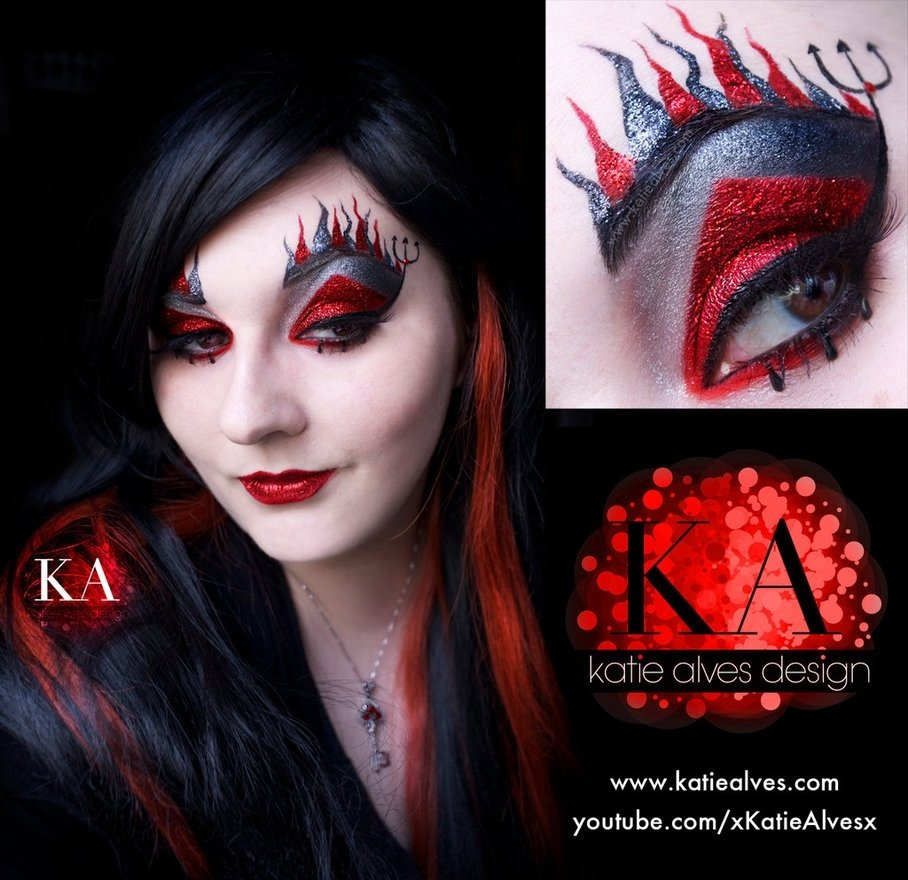 10 Great Devil Makeup Ideas For Women red devil makeup halloween devil halloween makeup with tutorial