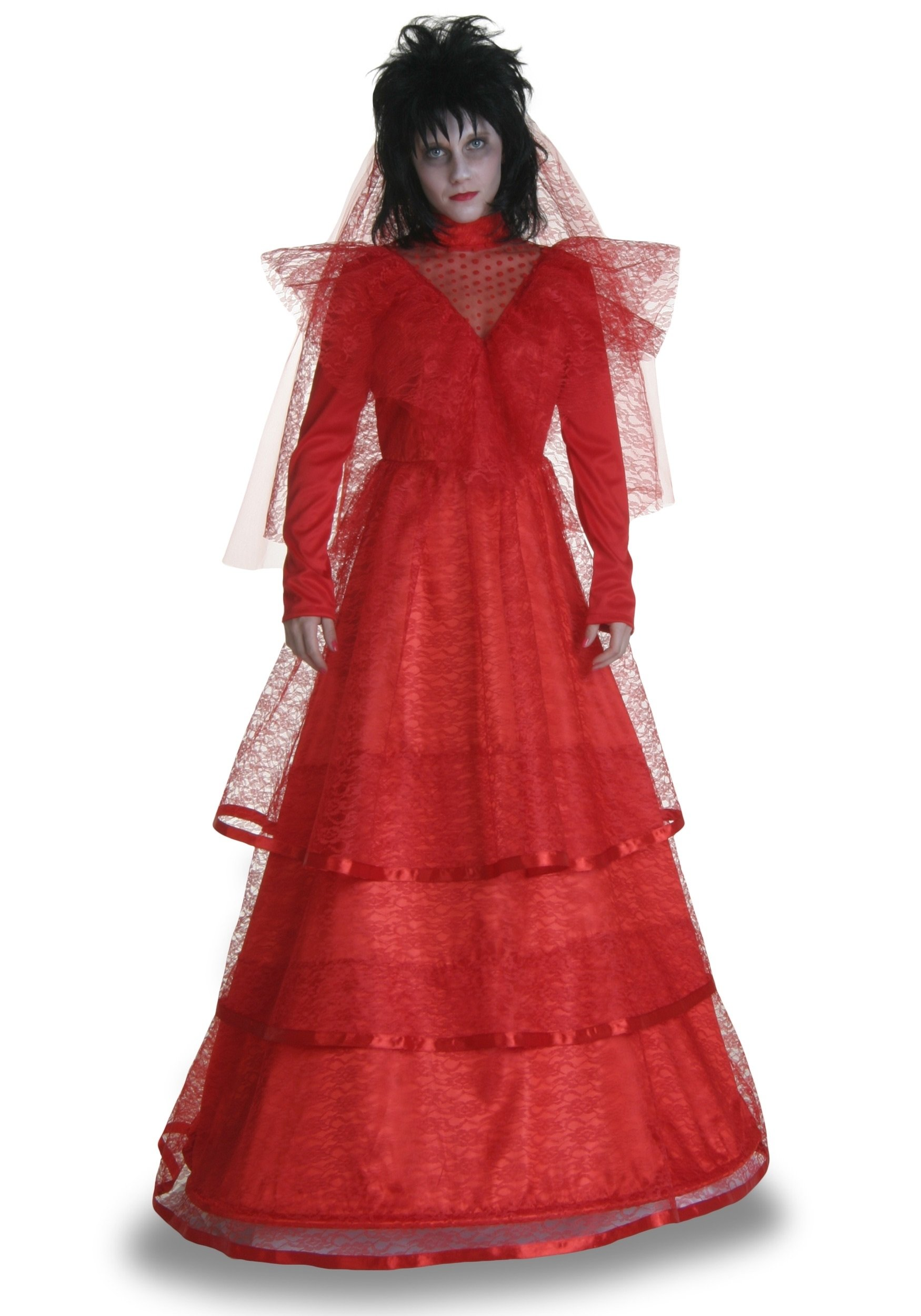 10 Gorgeous Red Dress Halloween Costume Ideas red gothic wedding dress costume